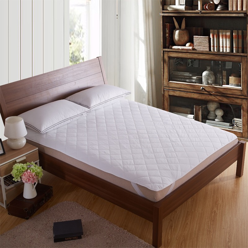 quilted fitted mattress pad cotton queen mattress cover mattress topper white in sheet from. Black Bedroom Furniture Sets. Home Design Ideas