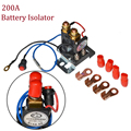 12V/24V 200 AMP Battery Isolator + Relay 4 Terminal Dual Battery Auto Increase Battery DC 12V-24V Suit for Car Track Van Vehicle