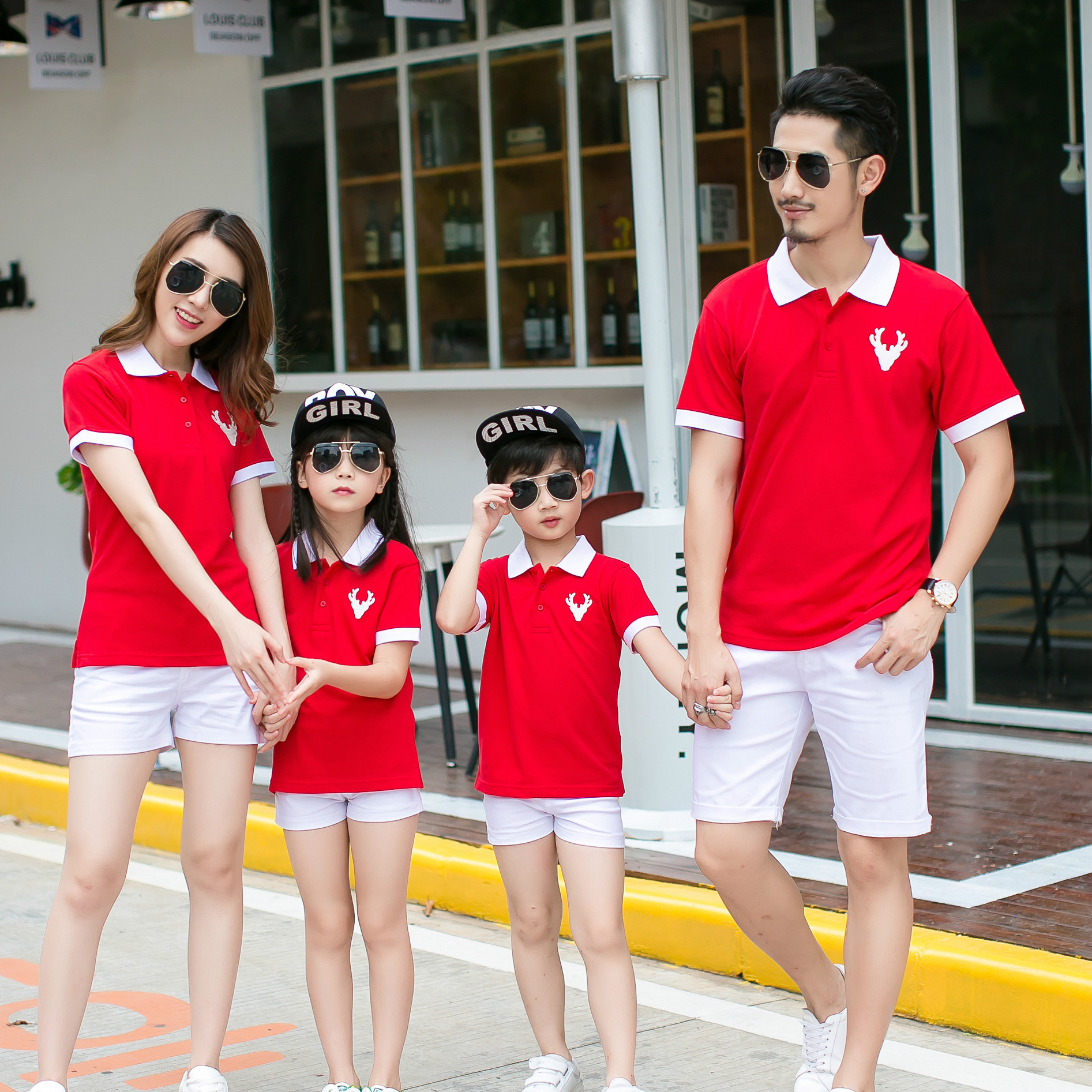 family matching clothes summer 2017 Kindergarten school clothing Dad