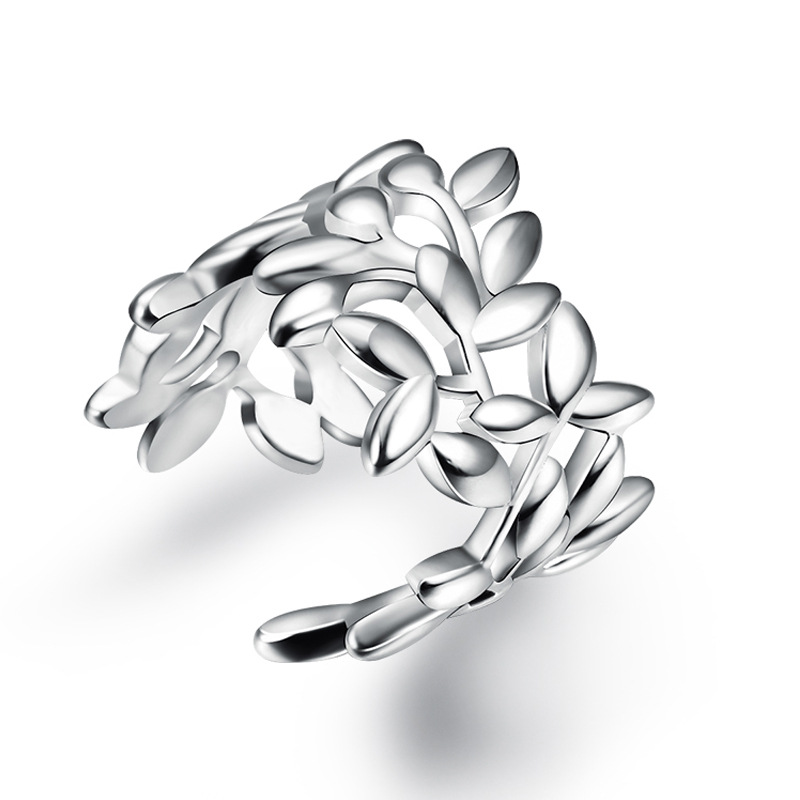 XIYANIKE New Arrival Sterling silver Hot Sale Fashion National Leaf Shape Rings For Women Adjustable Ring Anillos Bague VRS2237