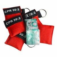 500 шт./упак. CPR маска с рот в рот дыхание Resuscitator уход за кожей лица щит для первой помощи Красный нейлоновый чехол завернутый