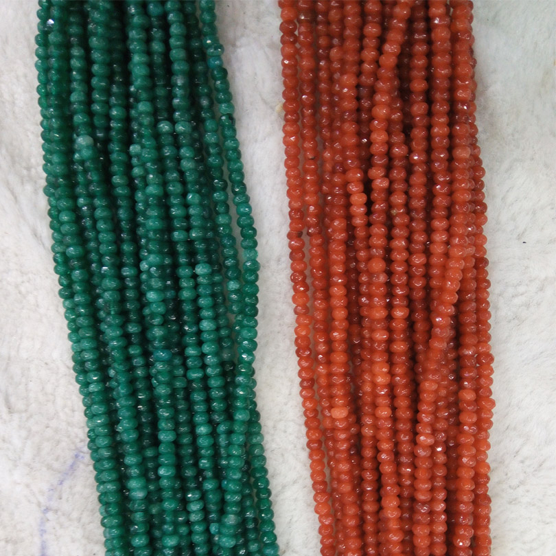 """AAA 15/"""" 2x4mm Rose ruby Zoisite Rondelle Hand Cut Faceted Loose Beads Small"""