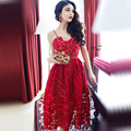 2017 Spring Summer Sexy Fashion Women Dress Red White Lace Party Vintage Dress Party Dresses Sundress Plus Size