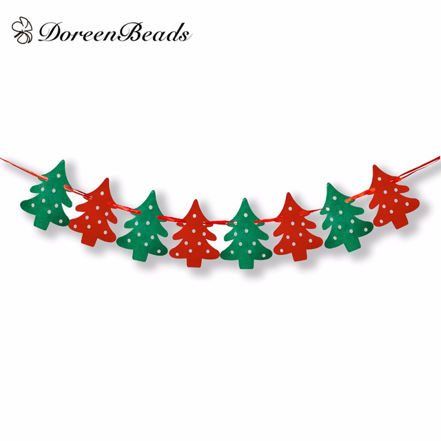 Christmas Banners Part - 19: DoreenBeads Home And Shop Decoration Decorative Flags Christmas Tree Banner  Christmas Banners Hanging Xmas Festivals 2m