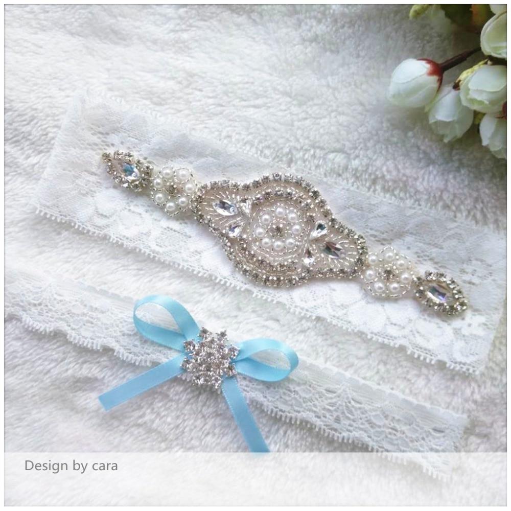 Long Wedding Garters: 1 Pair Vintage Wedding Garter Set Rose Gold Rhinestone