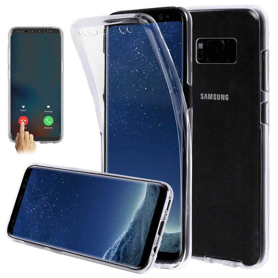 360 Full Transparent Case For Samsung Galaxy S10 S10E S9 S8 Plus A10 A30 A40S A40 A50 M10 M20 Cover Silicone TPU Phone Cases