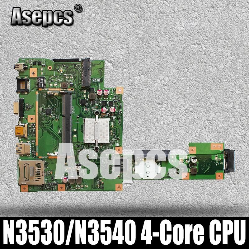 Carte mère pour ordinateur portable Asepcs X553MA pour ASUS X553MA X553M A553MA D553M F553MA K553M Test carte mère originale N3530/N3540 4 cœurs CPU