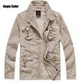Hot 2016 nueva moda Peuterey italia hombres de la marca de moda Multi bolsillo Tops capa de la chaqueta