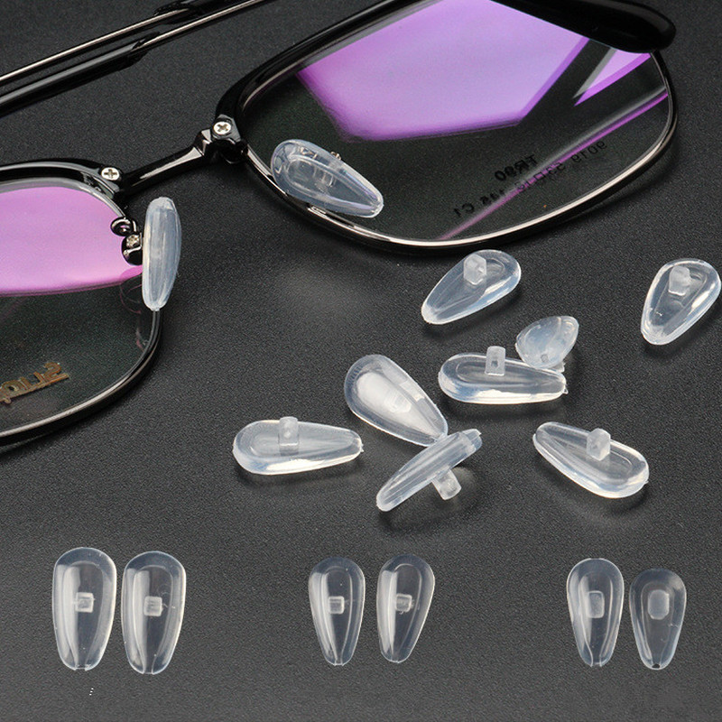 5 Pair Glasses Nose Pads Adhesive Silicone Nose Pads Non-slip White Thin Nose Pads For Glasses Eyeglasses Sunglasses