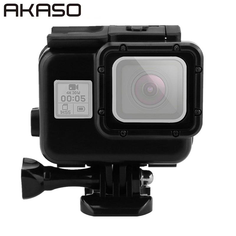 Para ir Pro Hero5 45 m negro carcasa impermeable caso pantalla táctil puerta de atrás para Gopro Hero 5 bajo el agua de la Caja accesorios de la cámara