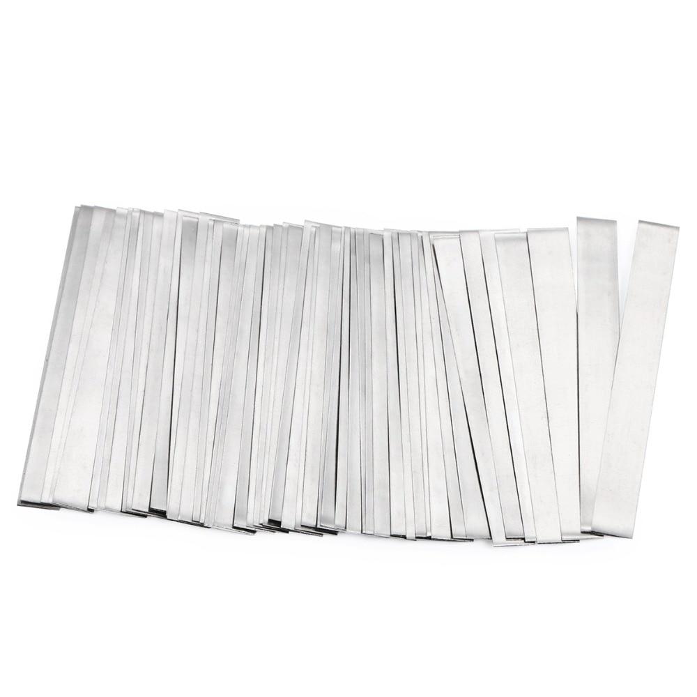 все цены на Pure Nickel Strip- 0.15x6x50 mm Soldering Tab for 18650 Lithium Battery Welding Ni200 50 Pcs онлайн