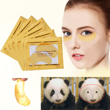 5packs Gold Crystal Collagen Eye Mask Patches For Eyes Anti Eye Bags Dark Circles Face Care Moisturizing Gel Under Eye Pads Mask 5packs gold eye mask moisturizing eye patches sheet beauty gold crystal collagen eye mask patches for the eyes care gold mask