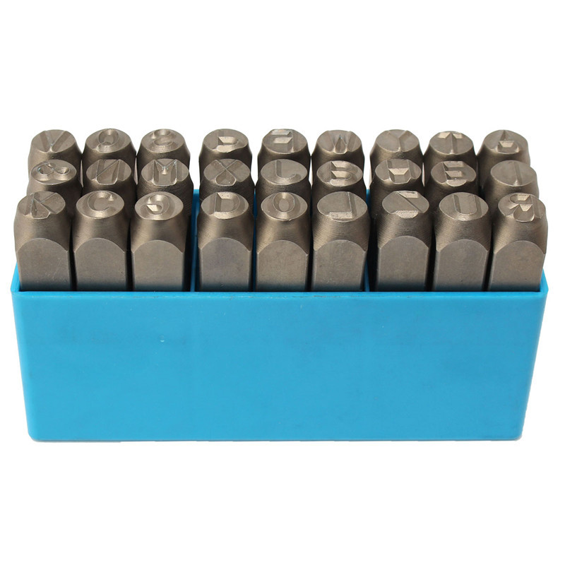 Good Quality ALPHABET PUNCHES A-Z+& Metal Steel Letter Stamp Punch Wood Leather Punch Tool Set new arrival 20pcs steel design stamp punch tool for beading