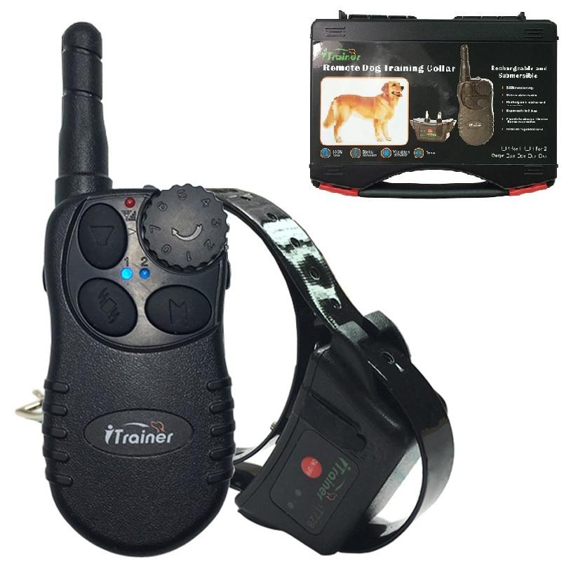 Étanche dog trainer collier télécommande 500 m pet collier de dressage rechargeable électrique chien collier de choc pour 1 chien
