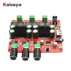 Image 1 - TPA3116 2.1 2 × 50 ワット 100 4.2 Bluetooth デジタルサブウーファーアンプ FM USB Hifi パワーアンプオーディオボード + リモコン F8 009