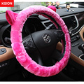 Fur Plush Steering Wheel Cover Winter Soft Car Steering-Wheel Covers Auto Wheels Case Universal Size M 38cm Car Accessories
