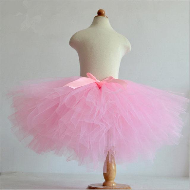 Hot Sale Summer Fluffy 3 Layer Girls Rainbow Tutu Skirts Baby Kids Tulle Skirt Children Tutus Dancing Pettiskirt 1 10T