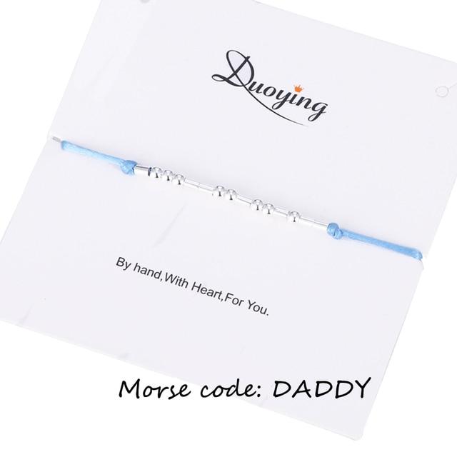 détaillant a3e90 0ae5b € 3.33 10% de réduction|Duoying Morse Code Bracelet papa personnalisé  Message caché personnalisé Message corde Bracelet cadeau pour femmes eBay  Etsy ...