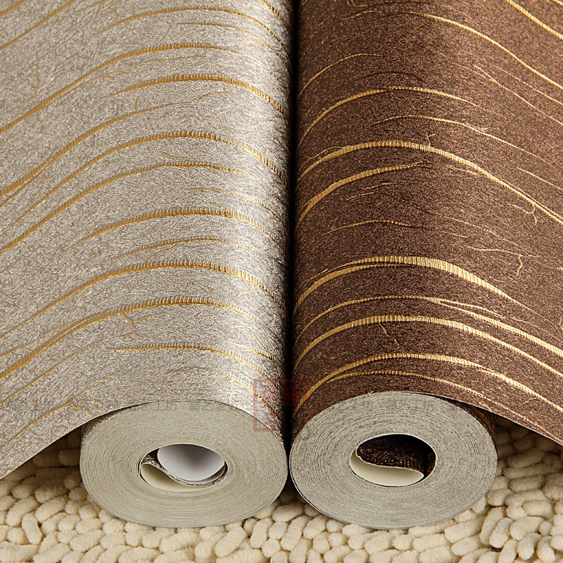 Buy Gold Striped Silver Foil pvc Wall Paper Backdrop Brown Silver Decorative Vinyl Covering Wallpaper Roll for Walls Office Hotel
