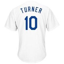94a5e456a Juego jersey hombre Jersey de Los Angeles Dodgers Justin Turner de béisbol  blanco genial Base jersey
