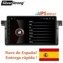 SilverStrong Android 8,1 автомобиль DVD gps магнитола стерео для BMW E46 318 320 3 серии dvd-плеер приемник навигации