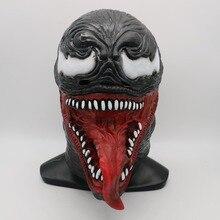 цена Venom Spider-Man The Latex Mask Black&Red Cosplay SpiderMan Edward Brock Dark Superhero Venom Masks Helmet Halloween Party Props онлайн в 2017 году