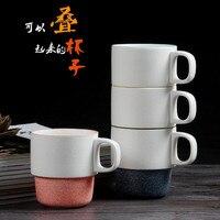 Snowflake glaze creative Japanese ceramic mug simple morning tea cup stackable cup couple cup