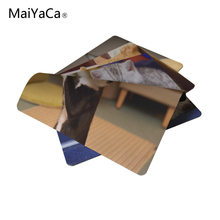 MaiYaCa Amazed Fluffy Cat Mouse Pad Computer Notebook Gaming Mice Mat Pad 18*22cm and 25*29cm