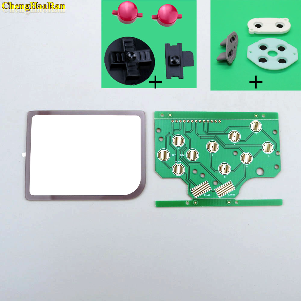 For DMG GB Plastic A B Button Silicon D pad Select Start Rubber Button For Raspberry Pi Zero PCB Board & Lens Protector-in Replacement Parts & Accessories from Consumer Electronics