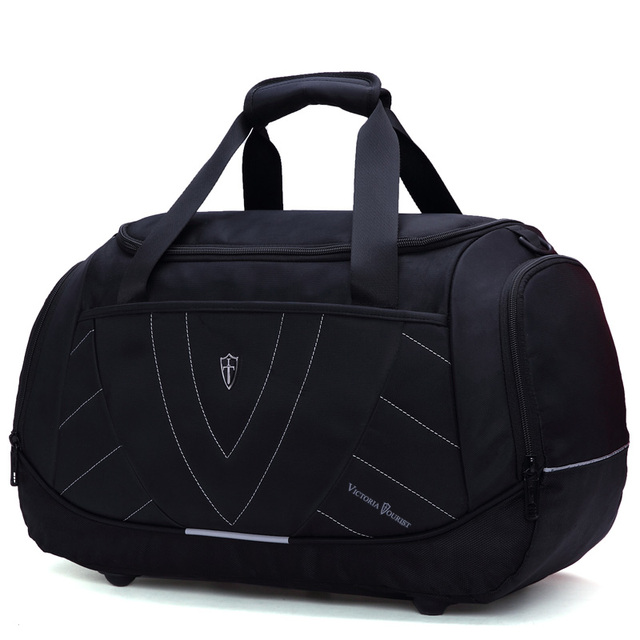 VICTORIATOURIST men travel bags/ euro and us style duffle bag men/ travel bag for men/  nylon travelling bag/black V7005