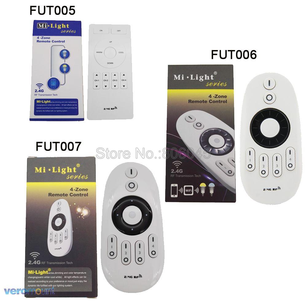 Mi.Light 2.4G RF 4-Zone Wireless Remote Controller for Mi-light CW/WW LED Bulb or Single Color LED strip FUT005 FUT006 FUT007 цена