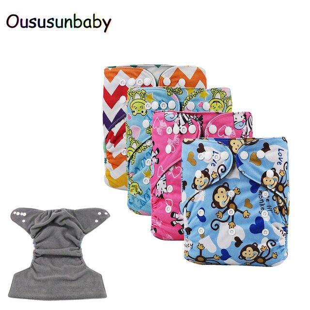 eaa7e1f41 1PC Baby Bamboo Charcoal Cloth Diaper Reusable Baby Nappies Diaper ...