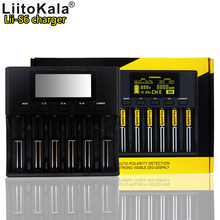Liitokala lii-S6 18650 26650 3.7V lithium battery 1.2V nickel metal hydride cadmium 3.2V iron phosphate 6 slot
