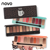 NOVO Brand NEW Fashion 10 Colors Shimmer Matte Eye Shadow Naked Eyeshadow Pallete Natural Make Up