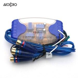 4-канальный преобразователь высокого и низкого уровня RCA выход для автомобильного/морского аудио адаптера