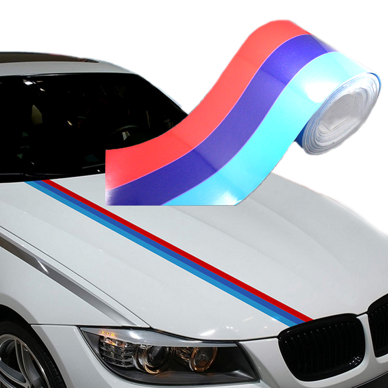Car Body M-color Grill Stripe Decal Sticker Decoration Vinyl Colorful For BMW
