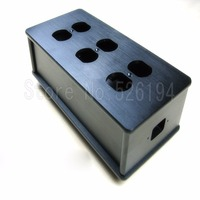 Бесплатная доставка один шт Черный США AC Питание бар дистрибьютор Алюминий 6 выход коробка HiFi шасси