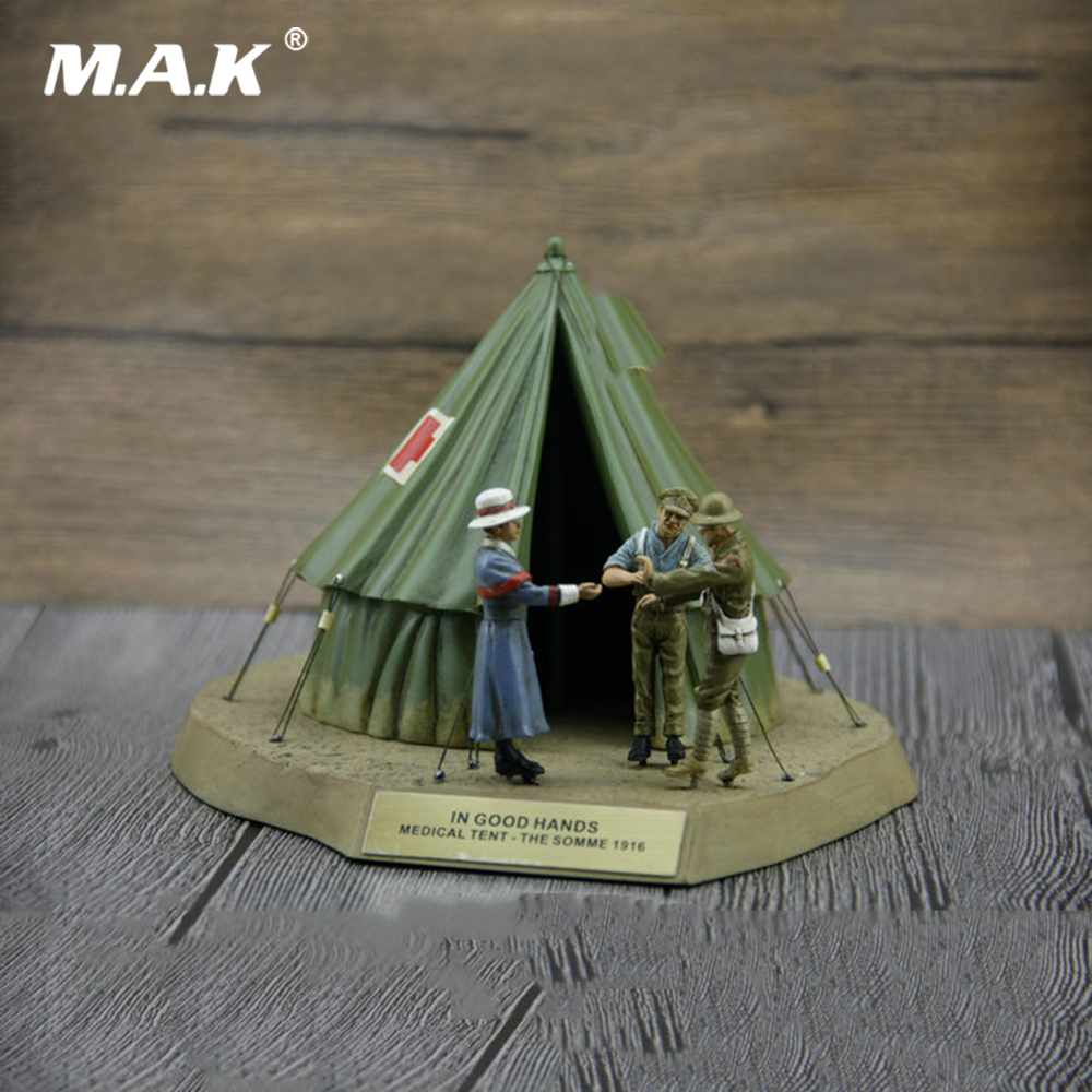 лучшая цена For Collection 1/32 Scale World War I 1916 Battle of the Somme Medical Tent Scene Set Puppet Warrior Military Model Accessory