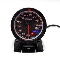 CNSPEED 60MM Racing Car Water Temperature Gauge 20 120C Water Temp Meter Lighting Auto Water Temperature