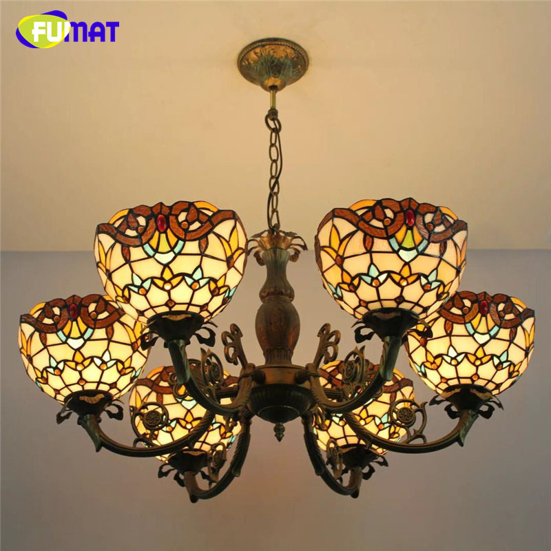 FUMAT  Stained Glass Pendant Lamp Antique Suspension Lights Hot bending Body Baroque For Restaurant Hotel Project Light Fixtures fumat stained glass pendant lights garden art lamp dinner room restaurant suspension lamp orchids rose grape glass lamp lighting