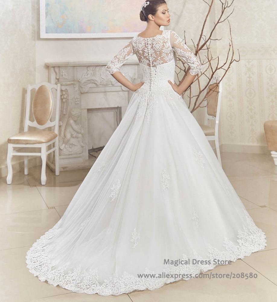 Sheer Corset Back Wedding Dress_Wedding Dresses_dressesss