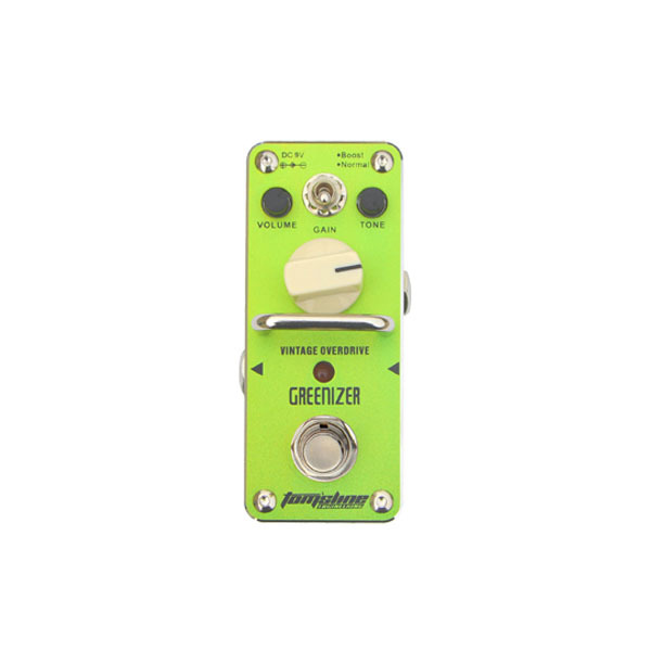 New AROMA AGR-3 GREENIZER Vintage Overdrive Mini Analogue Effect True Bypass aroma agr 3 true bypass greenizer vintage overdriver electric mini singer guitar effect pedal professional guitar parts