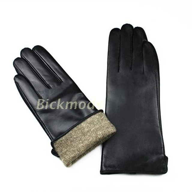 S Straight Leather Gloves...