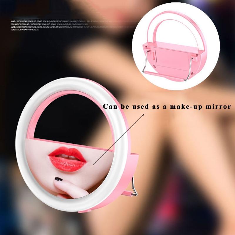 Красивый светодиодный светильник для селфи для камеры и телефона, светильник для селфи, косметическое зеркало, не входит в комплект
