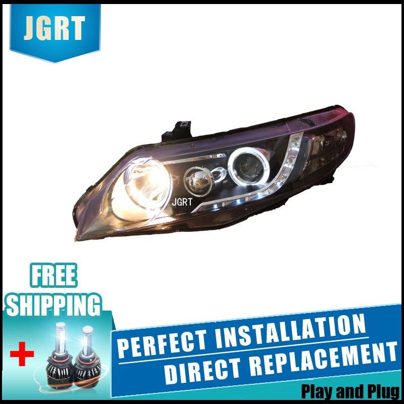 2 pièces LED Phares Pour Honda Civic 2007-2011 Voiture LED Lumières Double Xénon Lentille Voiture Accessoires Feux Antibrouillard