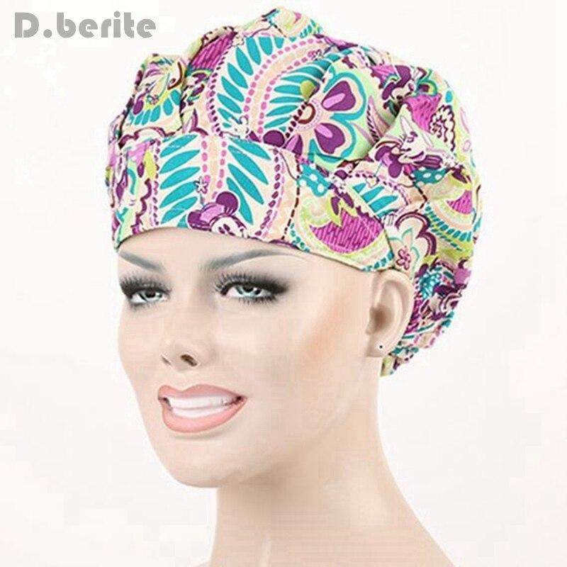 D.berite Pattern Flower Printing Hat Unisex Beauty Cap