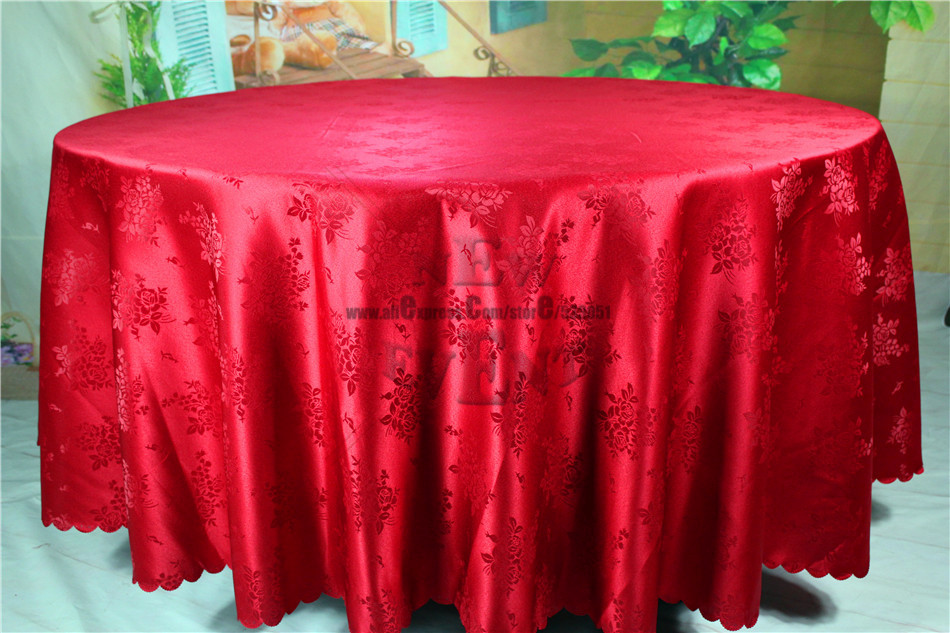 new design red color chinese rose flower jacquard linen for wedding home
