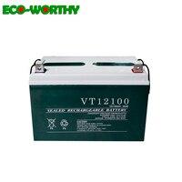 ECOworthy 12V 100AH Battery Sealed AGM Deep Cycle Battery 100Ah 12V Deep Cycle Battery Rechargeable RV Camping Solar Off Grid