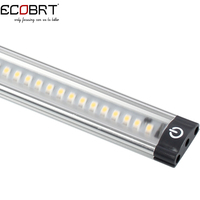 20 inch Aluminum Touch On Cabinet lamps 50cm long 5W Led Linear Cabinet Strip Lights 12v / 24v DC with sensor switch