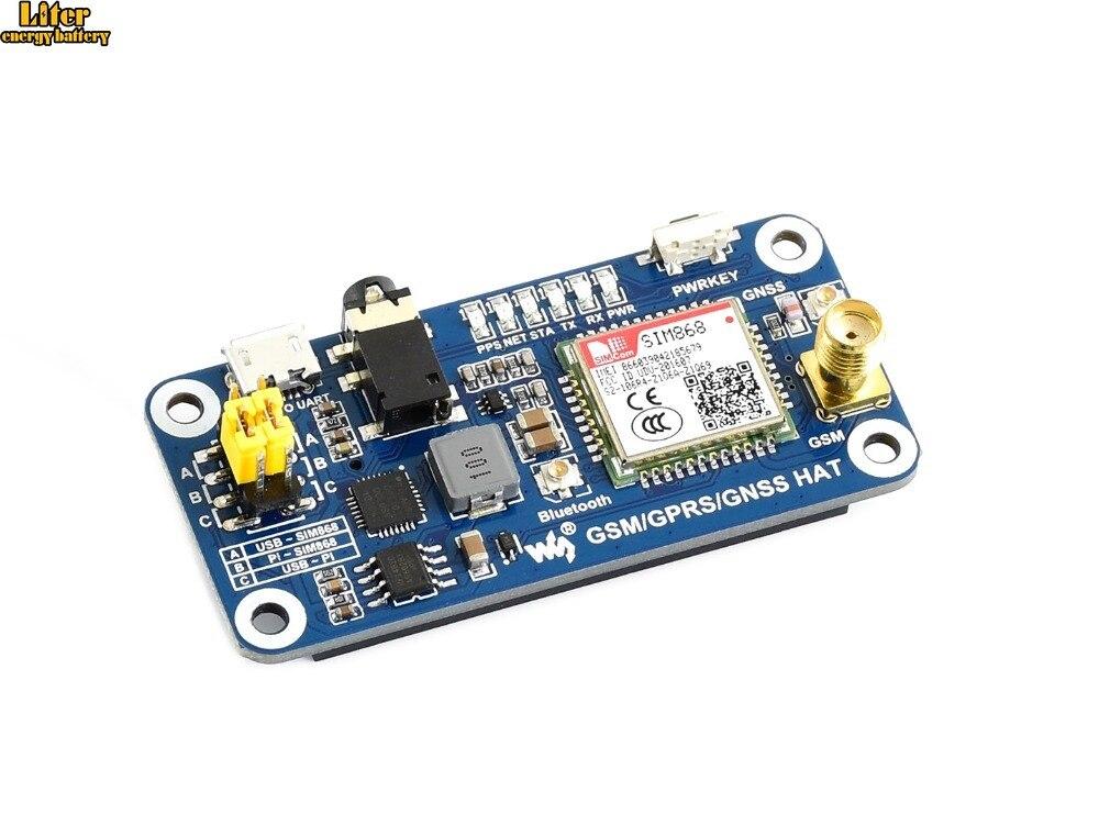 Chapeau GSM/GPRS/GNSS/Bluetooth 3.0 pour 2B/3B/3B +/zéro/zéro W, prise en charge SMS, téléphone, email, convertisseur USB vers UART embarqué